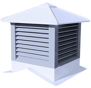 Standard Cupolas For Increased Air Flow ǀ Metallic