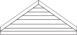 Galvanized Steel Fixed Gable Louver
