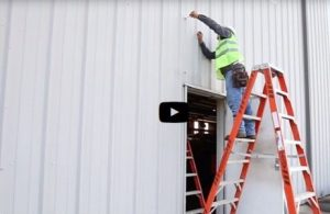 Metallic Products' instructional video offers step-by-step tips for door canopy installation